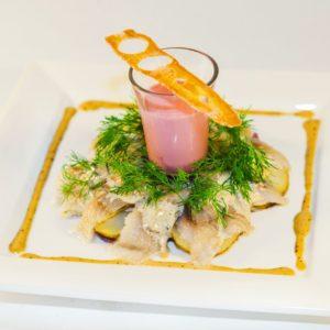 Филе сельди с картофелем Розе
