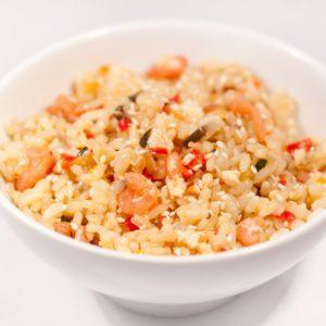 Рис Тяхон (жареный рис с креветками и овощами)