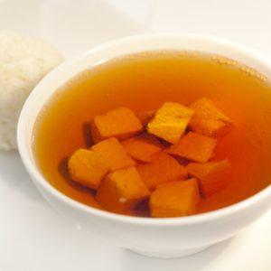 Суп с лососем и рисом
